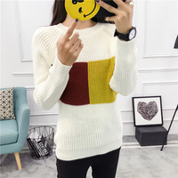 2018 New Arrivals Spring Women Casual Assorted Colors Knitted Sweater O Neck Coarser Knit Pullovers Ladies