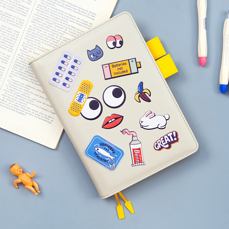1PCS Funny Mood Hobonichi Fashion Journal 207P A5 A6 Fitted Planner Book Undated Monthly Weekly Plan+Grid Paper Free Shipping undated daily weekly monthly refill agenda for hobonichi grid lined blank planner notebook bullet journal 100gsm paper a5 a6