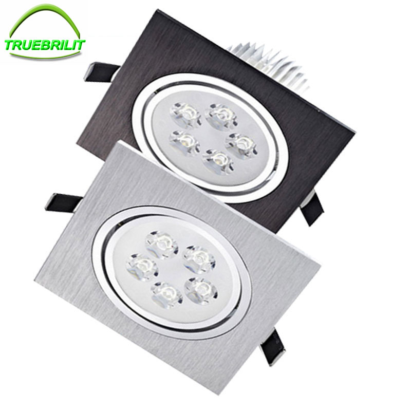 Led Downlights Square Recessed Spot Lamps 3W 5W 7w Dimmable Down lights 110V 220V Home Lighting Aluminum Driver Included t sunrise 3w aluminum home kitchen led under cabinet lighting 3 led spot light round lamp bulb brand driver included