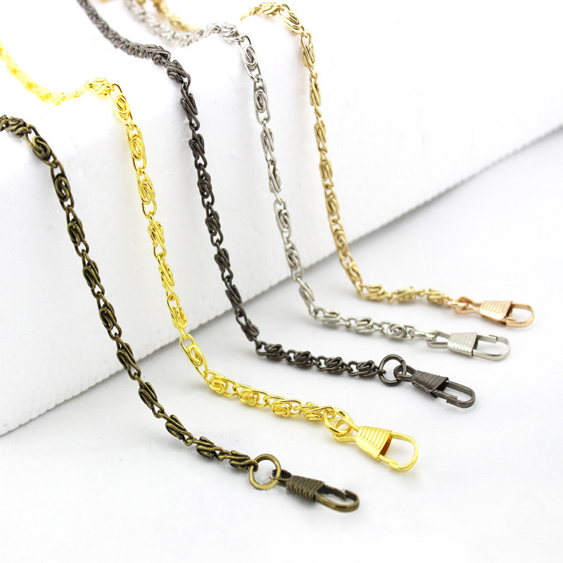 120cm Replacement Metal Chain For Purse Bags Shoulder Crossbody Handbag Antique Bronze Tone  DIY Strap Bag Accessories Hardware