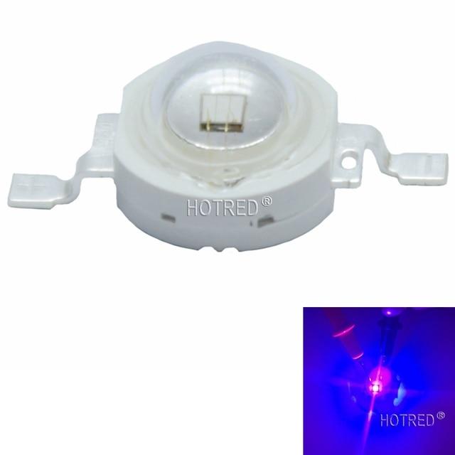 10 個 3 ワットハイパワー Led Uv ライトチップダイオード 395nm 400nm 365nm 370nm 紫紫のためドライヤー通貨識別
