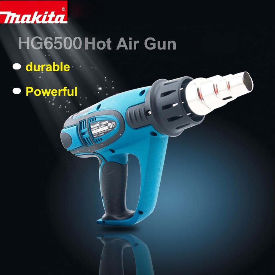 Makita HG6500 Heat Machine Stickers Tab Automotive Film Garment Factory Required tools Power: 2000W Temperature: 70 650