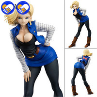 A TOY A DREAM 18cm Dragon Ball Z Girls Gals Android 18 Lazuli Sexy PVC Action