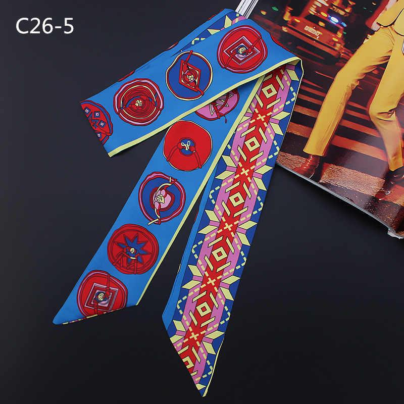 Scarlet variedad bolso ASA pequeña cinta cinturón de pelo chica alta calidad mujeres moda 2018 chales y bufandas de seda largo