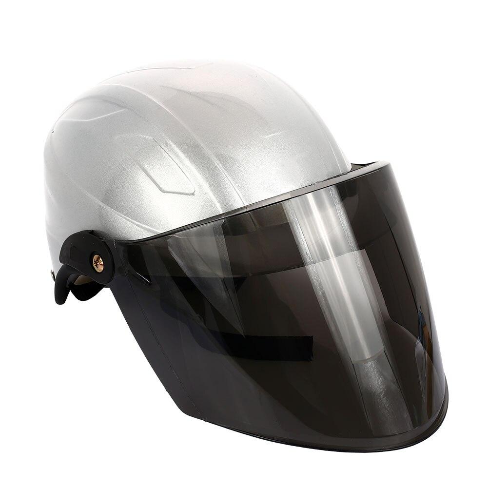 Полудуплексный Универсальный мотоциклетный шлем Велоспорт Спорт Craniacea прочные кепки Защитная шляпа - Цвет: grey