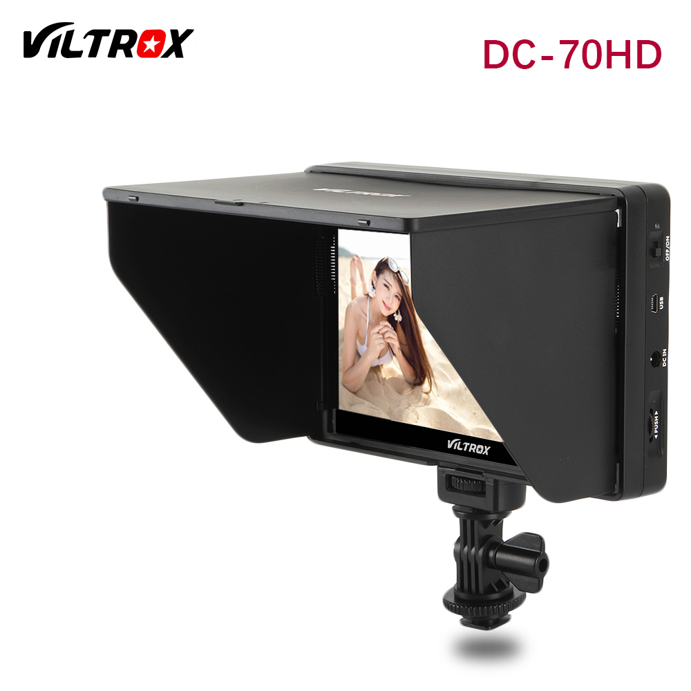 New Viltrox DC-70HD Clip-on 7'' 1920x1200 IPS HD LCD Camera Video Monitor Display HDMI AV Input for Canon Nikon DSLR