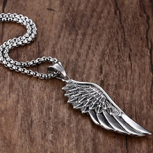Men's Stainless Steel Necklace with Wing Pendant