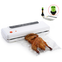 Hoodakang Household Multi function Best Food Vacuum Sealer Saver Home Automatic Vacuum Sealing Packer Plastic Packing Machine