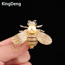 Bee Pins Brooch For Women Accessories Gifts For Cute Baby Lovely Scarf Pin Vintage Karl Jewelry Lapel Pin Baby Hat Enamel Pins(China)