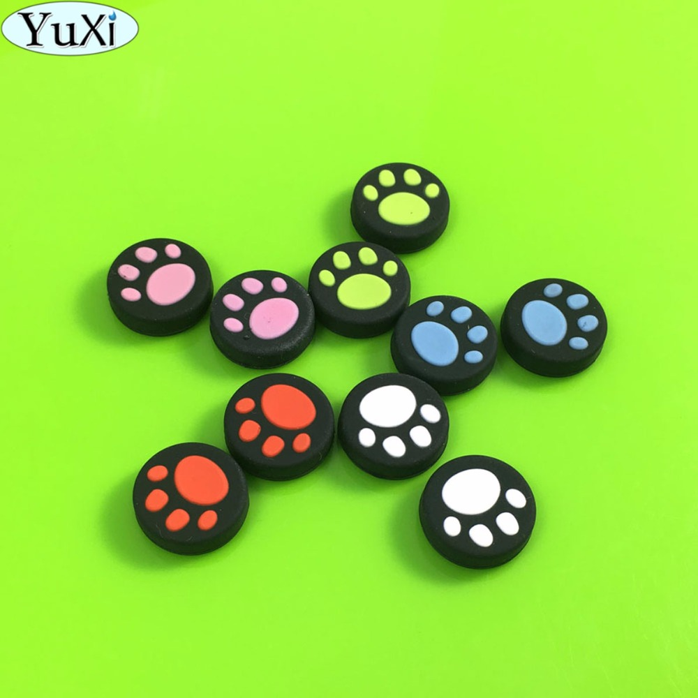 2pcs Silicone Thumb Grip Stick Caps for Nintendo Switch Joy-Con NS NX Controller Cat Paw Joystick Caps 5 Color Game accessories2pcs Silicone Thumb Grip Stick Caps for Nintendo Switch Joy-Con NS NX Controller Cat Paw Joystick Caps 5 Color Game accessories
