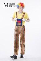 MOONIGHT Costumi di Halloween Divertente Circo Clown Costume Impertinente Arlecchino Uniform Fancy Cosplay Abbigliamento per Gli Uomini Vestiti Da Clown