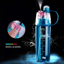 New Creative Spray Water Bottle Portable Atomizing Bottles Outdoor Sports Gym Drinking Drinkware Bottles Shaker