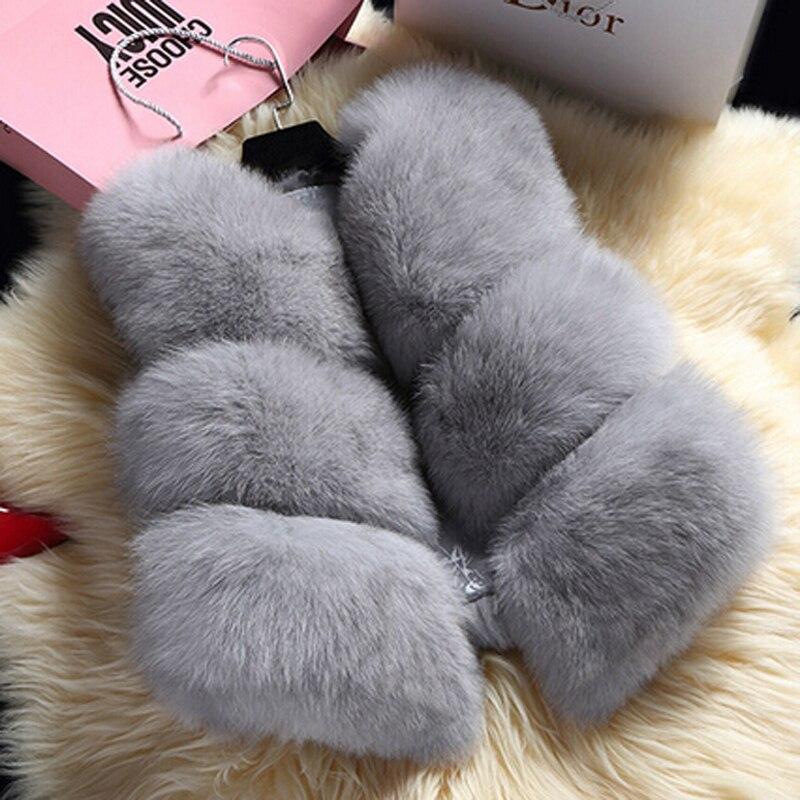 Rihschpiece 2018 hiver grande taille 3XL femmes fausse fourrure gilet manteau blanc Cardigan sans manches dames veste RZF1311