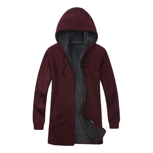 Image 2 - BOLUBAO Brand Men Cardigan Sweaters Coats Casual Slim Fit Plus Velvet Mens Sweaters Winter New Male Hooded Knitting Sweaters
