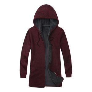 Image 2 - BOLUBAO ยี่ห้อผู้ชาย Cardigan เสื้อกันหนาวเสื้อลำลอง Slim Fit Plus กำมะหยี่เสื้อกันหนาวผู้ชายฤดูหนาวใหม่ชาย Hooded ถักเสื้อกันหนาว