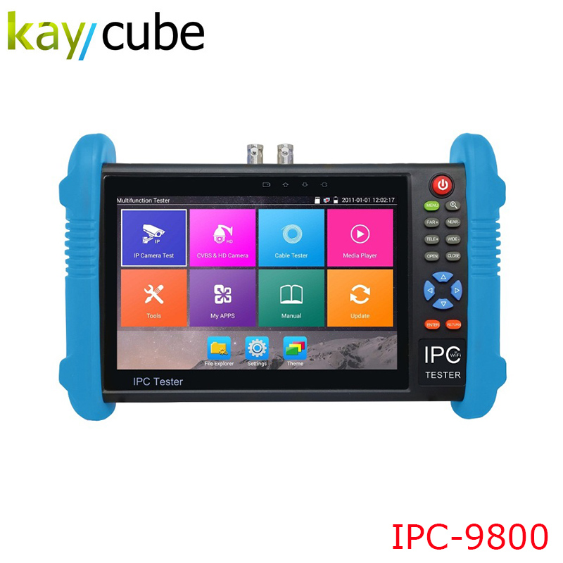 7 Inch Handheld IPC AHD TVI CVI CCTV Tester IPC9800 Plus With H.265/H.264, 4K Video Display Multi Functional ONVIF Express Ship