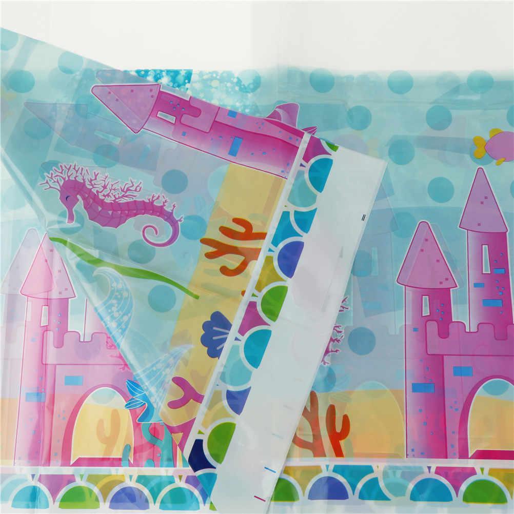 1 قطع 132*220 سنتيمتر mermaid الملابس للأطفال غطاء الديكور عيد ميلاد الحزب مفرش