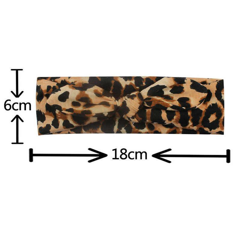 Recién nacido niños niñas diadema de leopardo bebé turbante arco nudo banda de pelo sombreros lindo regalos accesorios de fiesta nuevo