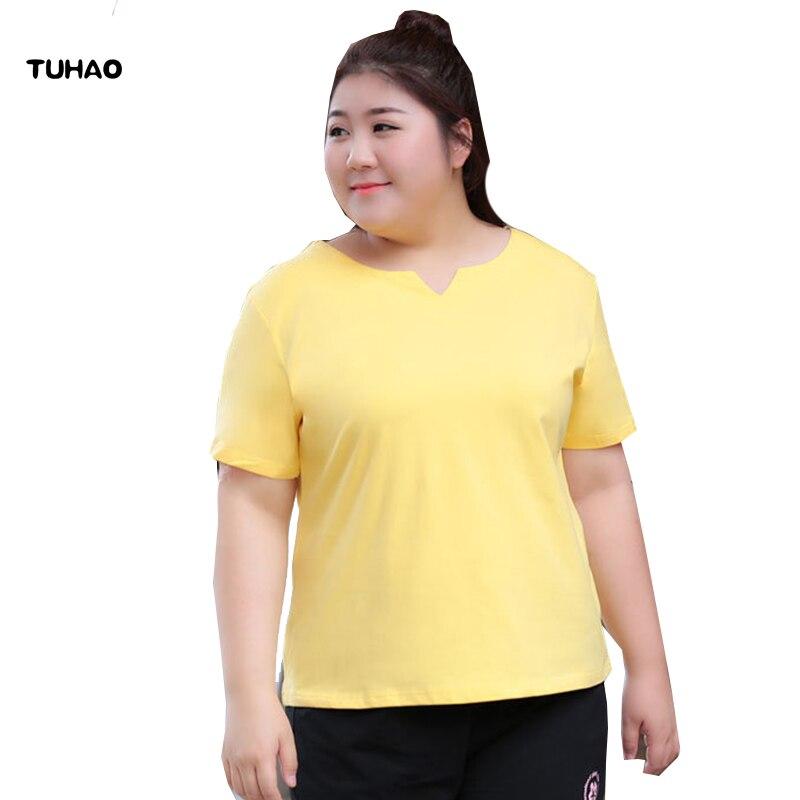 TUHAO female office lady blouse 2018 5XL 6XL 7XL Plus Size Women Top blouses Summer blouse shirt Cotton large size Clothing LS08