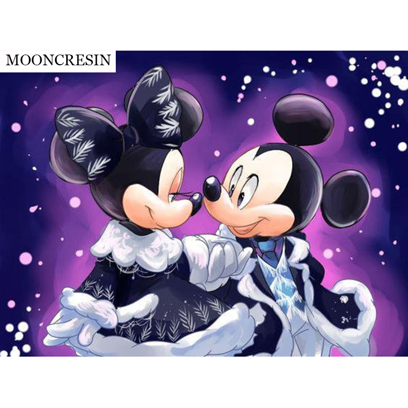 Needlework 5D Diy Diamond Painting Cross Stitch Cartoon Mickey Mouse Square Diamond Embroidery Home Decoration Minnie Baby Gifts