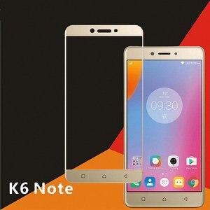 For Lenovo K6 Note Vibe K6 Note K53a48 full Cover Tempered Glass Screen Protector for Lenovo K6 Plus full coverage Glass film(China)