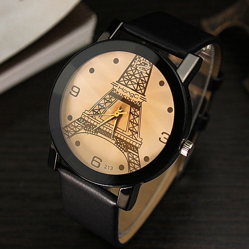 YAZOLE Eiffel Tower Quartz Watch Women Ladies Brand Famous Female Clock Wrist Watch Quartz-watch Montre Femme Relogio Feminino relogio feminino clock women ladies simple love eiffel tower round quartz analog bracelet wrist watch gift dress watches sale