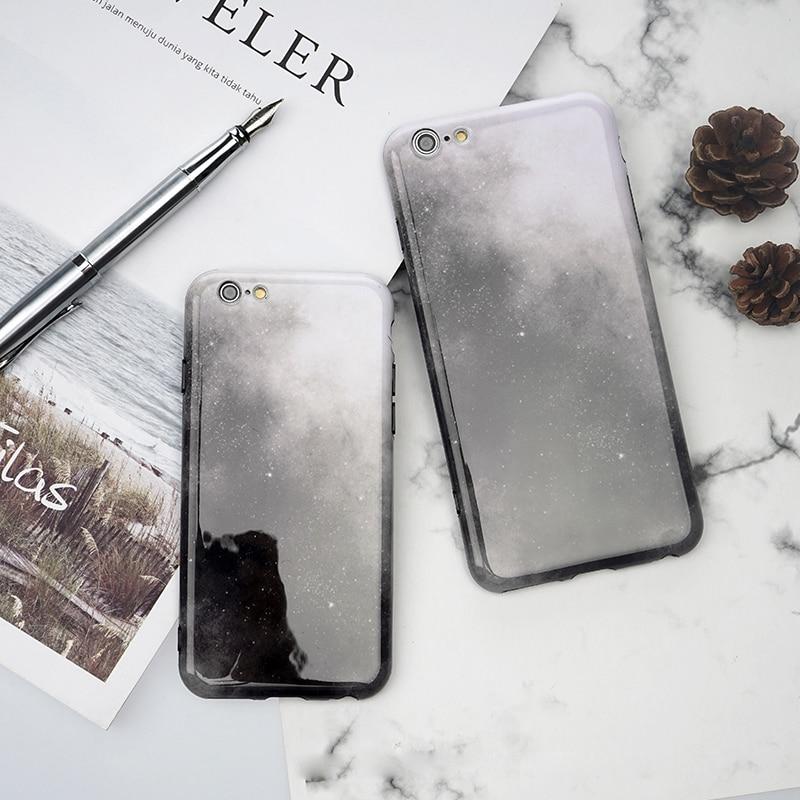 Чехол для iPhone 6 S плюс Coques 7 плюс Чехол корейский Панк Вселенная Небо кожа тонкая противоударный чехол для iPhone 8 8 плюс твердый переплет