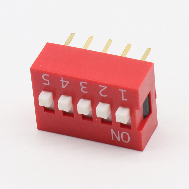 Integrated Circuits 10pcs Slide Type Switch Module 2.54mm 5-bit 5 Position Way Dip Red Pitch New