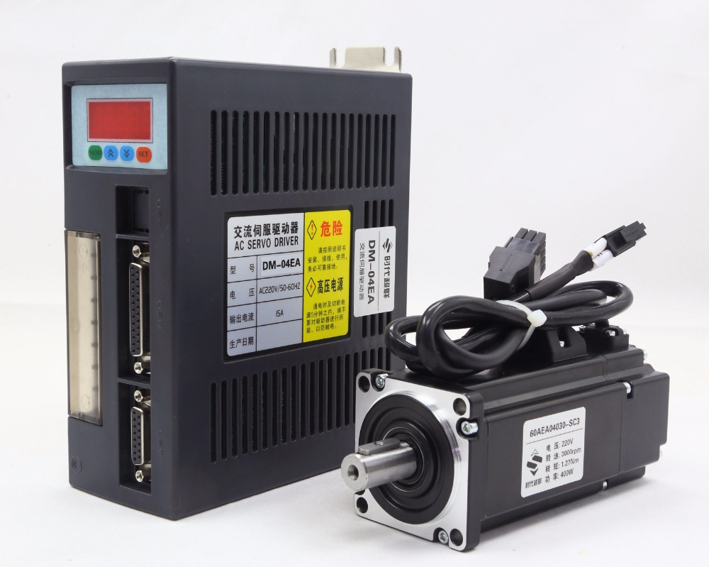 60mm Flange AC servo motor package (Servo Motor + Driver) 220V 0.637NM 200W 3000rpm used 100% tested mcdht3520e ac servo drive mcdht3520e for pan servo driver mcdht3520e