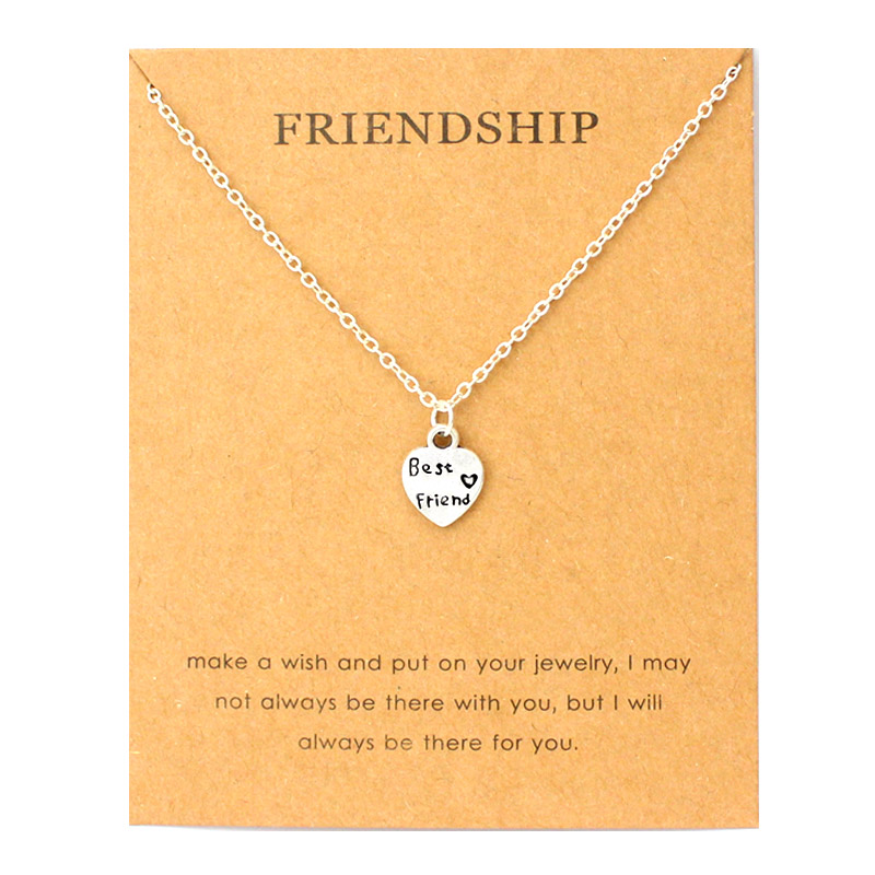 Friendship Best Friends Heart Pendant Necklaces Made with Love Star Moon Mountain Heart Infinity Necklace Women Jewelry Gift in Pendant Necklaces from Jewelry Accessories