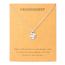 купить Friendship Best Friends Heart Pendant Necklaces Made with Love Star Moon Mountain Heart Infinity Necklace Women Jewelry Gift по цене 76.2 рублей