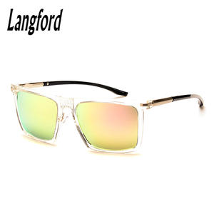 Mirror Sunglasses Astigmatism Transparent-Frame Myopia Woman Brand Langford Finished-Product