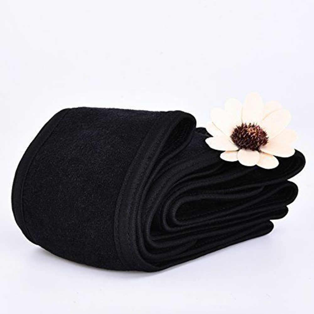 Черный эластичный спа макияж повязка на голову махровая ткань повязка на голову стрейч спортивная повязка на голову для йоги душ повязка на голову для женщин