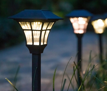 Solar lawn home atmosphere outdoor LED garden villa courtyard decoration waterproof plug small street lights
