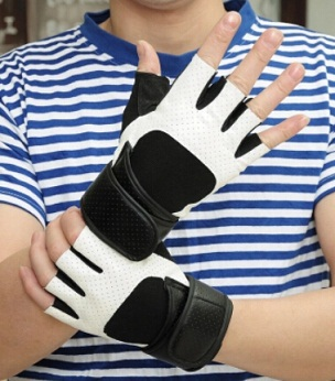 Весенние и летние мужские Спортивные Перчатки для фитнеса, черные и белые противоскользящие Тактические Перчатки для фитнеса - Цвет: white