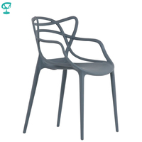 95423 Barneo N 221 Plastic Kitchen Interior Stool Chair for a Street Cafe Chair Kitchen Furniture Gray free shipping in Russia