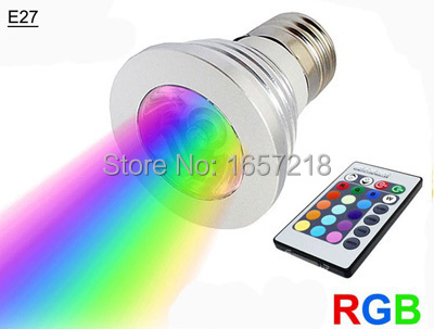 3W 4W 5W lamp led e27 dimmable spot bulb RGB colores bombillas lamparas ampolletas led l ...