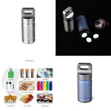 Portable Titanium alloy pill box waterproof bushcraft Cigarette storage reusable