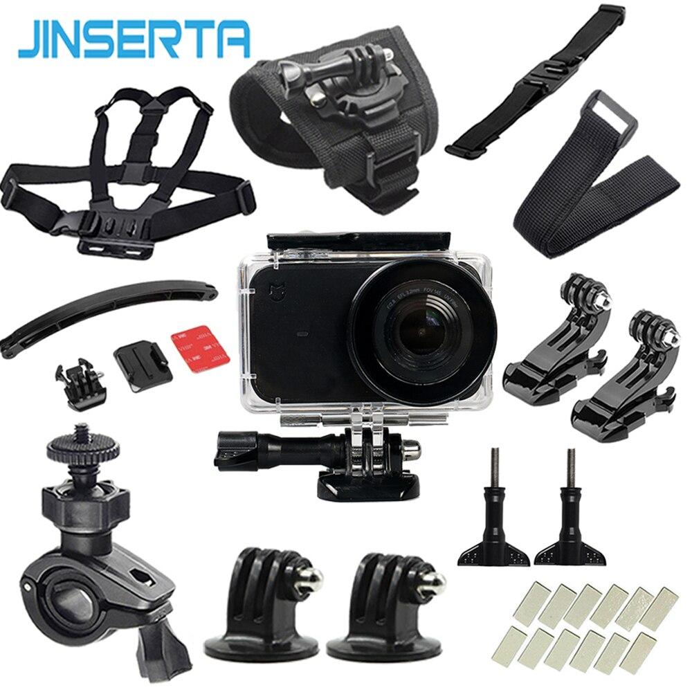 JINSERTA Action Camera Accessories Set For Mijia 45m Waterproof Case Camera Mount Selfie Stick For Xiaomi