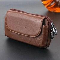 Zipper Man Belt Clip 100 Genuine Cow Leather Mobile Phone Belt Clip Case For HTC Bolt