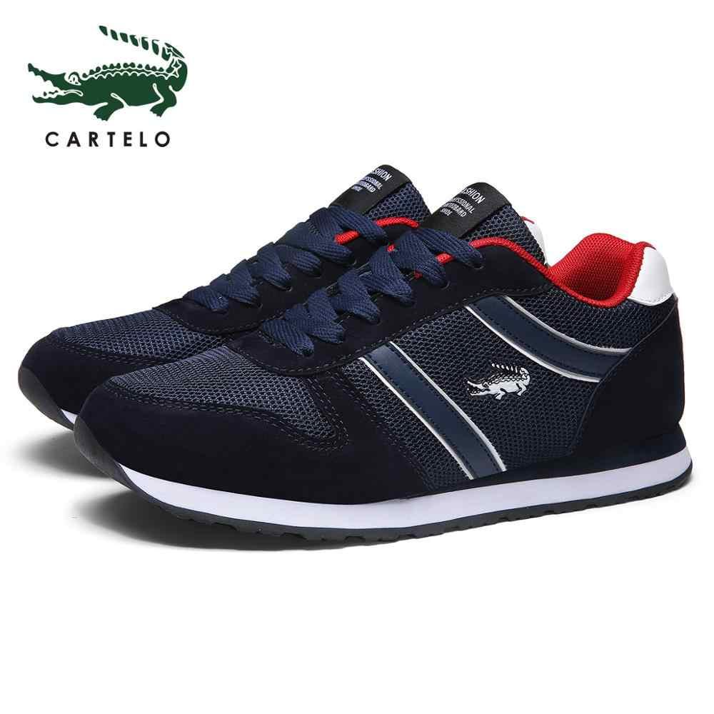 CARTELO męskie buty letnie trampki oddychające buty na co dzień buty trekkingowe lekkie buty do biegania męskie