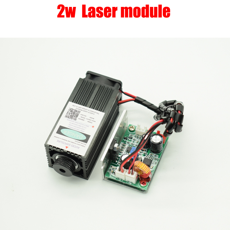 2w high power 450NM focusing blue laser module laser engraving and cutting TTL module 2000mw laser tube+googles
