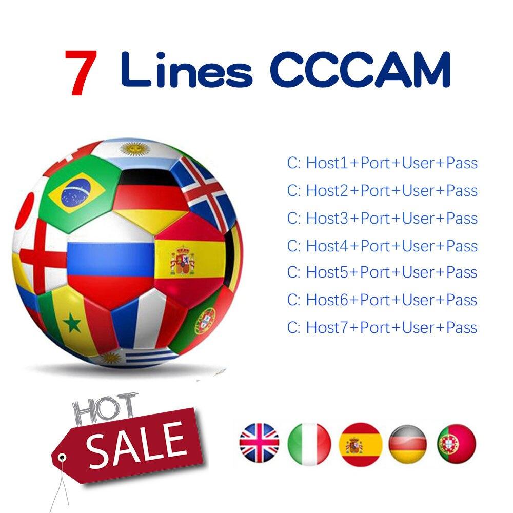 Cccam 10 Lines Full HD 1 Year Cccam Cline For Europe 7 Lines IPTV Use For Satellite TV Receiver DVB-S2 Server Hd