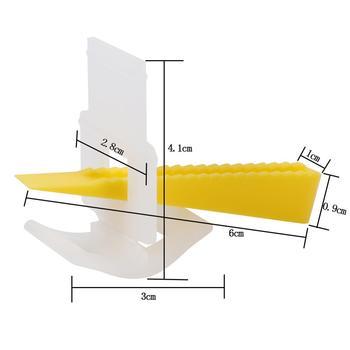 500 קליפים + 200 טריזי רצפת אריחי קיר פלס מרווחי שטוח פילוס מערכת כלים עבור אריח עובי הם בין 8 ~ 13 Mm