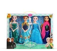 Disney 30 cm Dolls Congelado Princesa Elsa Anna Brinquedos de Gelo e neve roupas Mudança Boneca Acessórios Do Brinquedo para o Presente de Natal Da Menina Terno