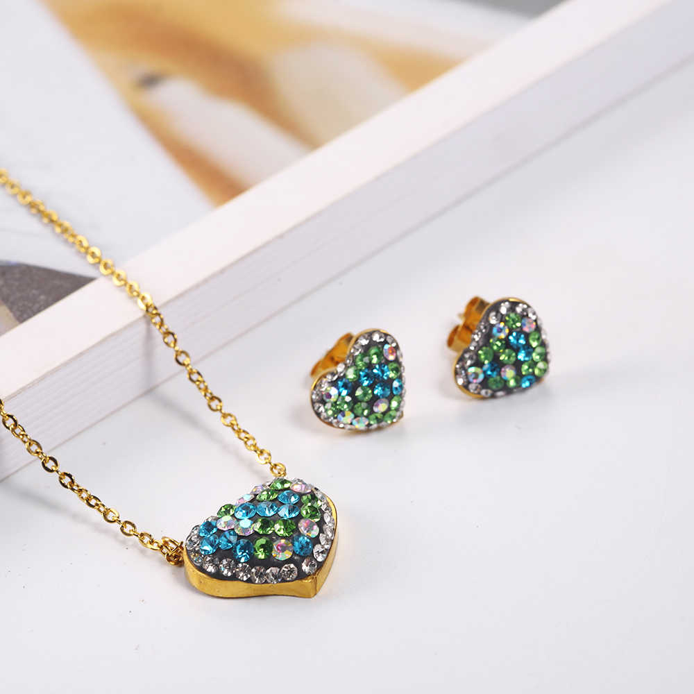 OUFEI Stainless Steel Jewelry Women Vogue 2019 Charm Necklace Earrings Set Jewelry Sets Accessories Mass Effect
