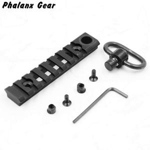 Image 5 - Tactical KeyMod Picatinny Weaver Rail Sections 8 Slots Mount Base with QD Sling Swivel Adapter For Hunting