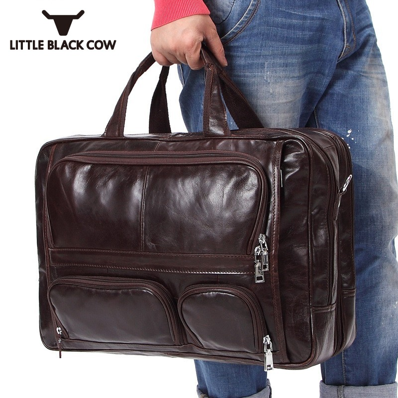 ddefe87718edfc Business Taschen Qualität Leder Mode 2019 Tote Tasche Reise Umhängetasche  Große Casual Laptop Hohe Männlichen Kapazität ...