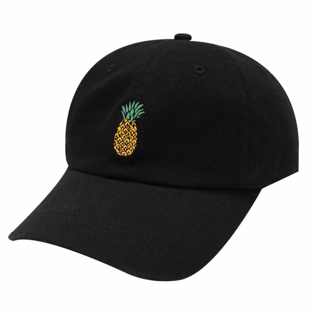 Hot Spring Women's   Cap   Snapback Pineapple Pattern Printed hat Men's Summer   Baseball     Caps   Hip Hop hats For Girls Casquette Homme