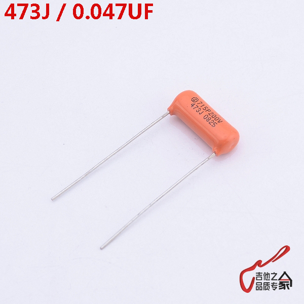 1 Piece GuitarFamily Orange Tone Cap (Capacitor)  SBE715P 473J  0.047UF 200V  For Electric Guitar   MADE IN USA 100 pcs lot cbb capacitor 630 v473 473 k 473 v 47 nf feet from 10 mm cbb22 film capacitor